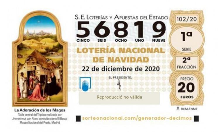 LOTERIA DE NADAL 2020